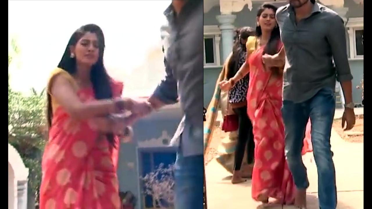 Karuna Telugu serial actress AbhiSS2 21 hot saree photos