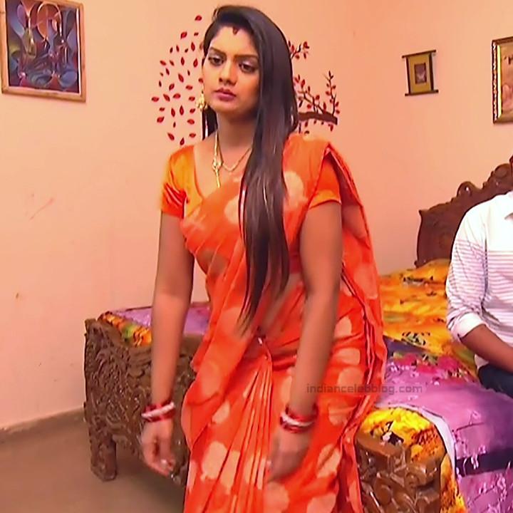 Karuna Telugu serial actress AbhiSS2 4 hot saree photos
