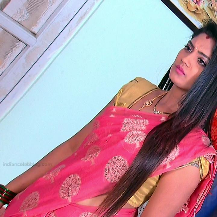 Karuna Telugu serial actress AbhiSS2 8 hot saree photos