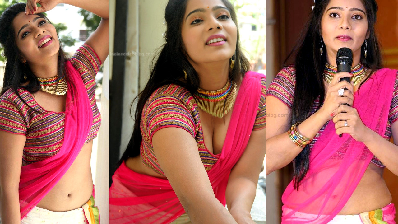 Mitra sexy cleavage n navel show in saree tollywood photo shoot
