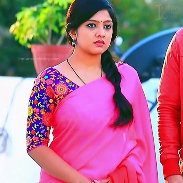Nithya Kannada TV Actress Kinnari S1 16 Hot Saree Pics