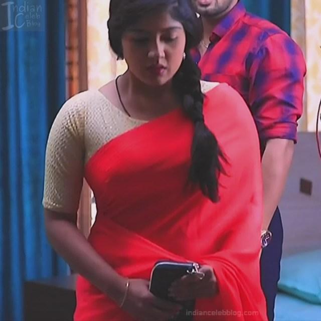 Nithya Kannada TV Actress Kinnari S1 17 Hot Saree Pics