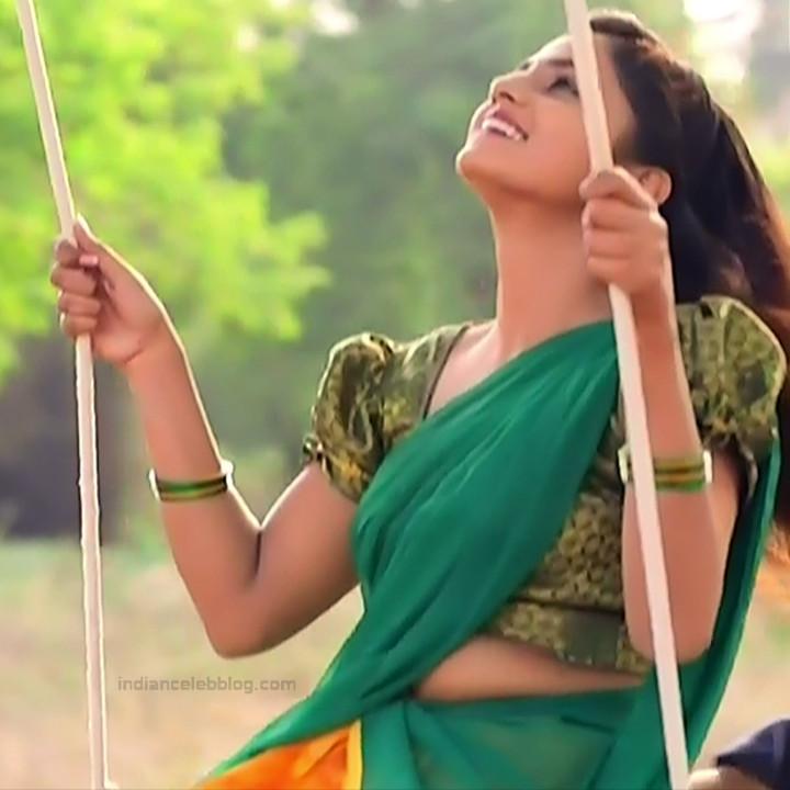 Raksha Gowda Kannada TV serial actress PutMS1 8 Saree Photo