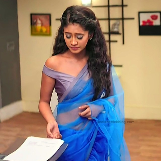 Shivangi Joshi Hindi TV Actress YehRKKH-S2 hot saree photos_11