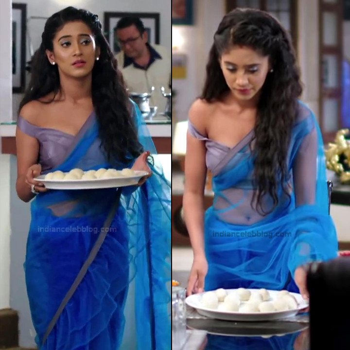 Shivangi Joshi Sexy Navel Show In Transparent Sari Hd Caps -8993