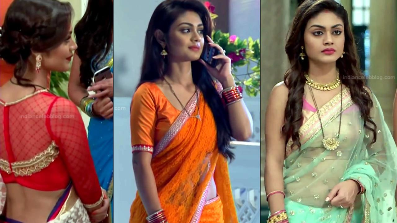 Sreejita De hot navel n back show in low waist saree