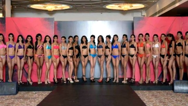 Miss India 2014 Contestants Swimsuit round group photo