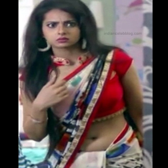 Monica Castelino Hindi TV actress CompS1 3 hot sari navel