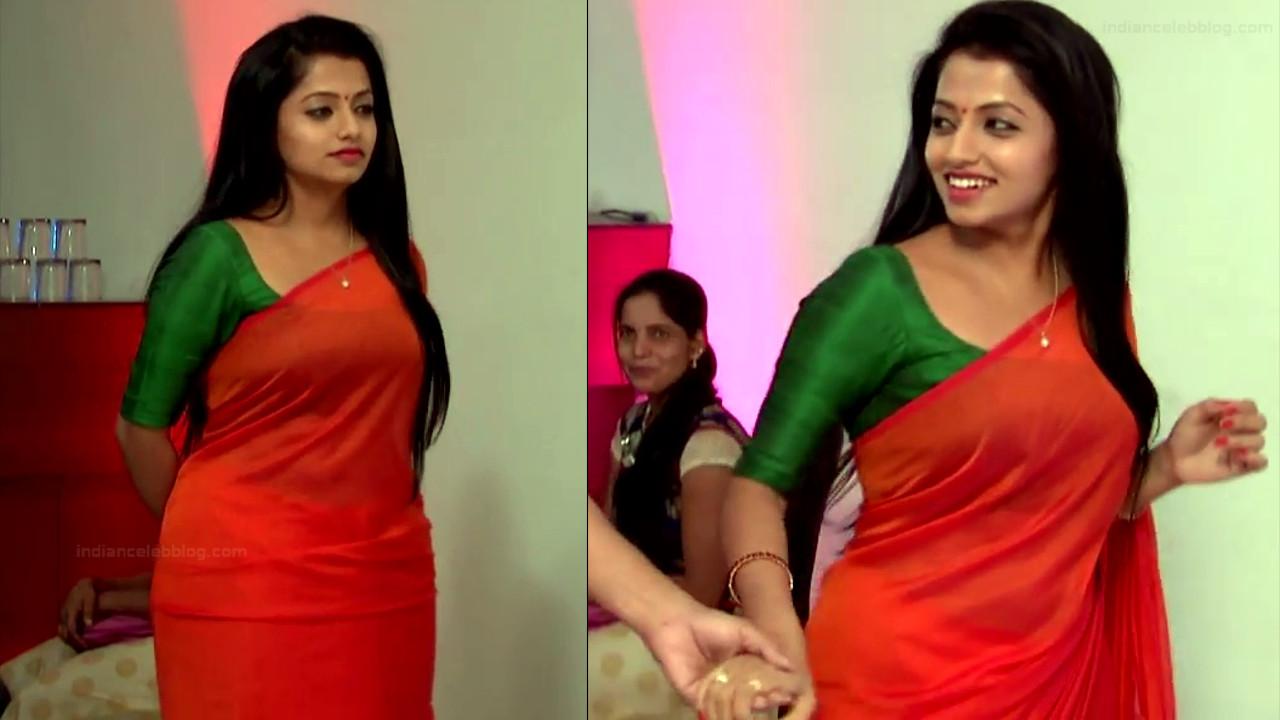 Navya Swamy Telugu TV Actress NaaPMS1 14 hot sari photos
