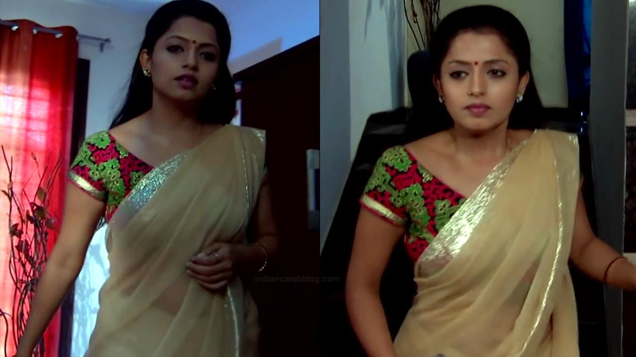 Navya Swamy Telugu TV Actress NaaPMS1 7 hot sari photos