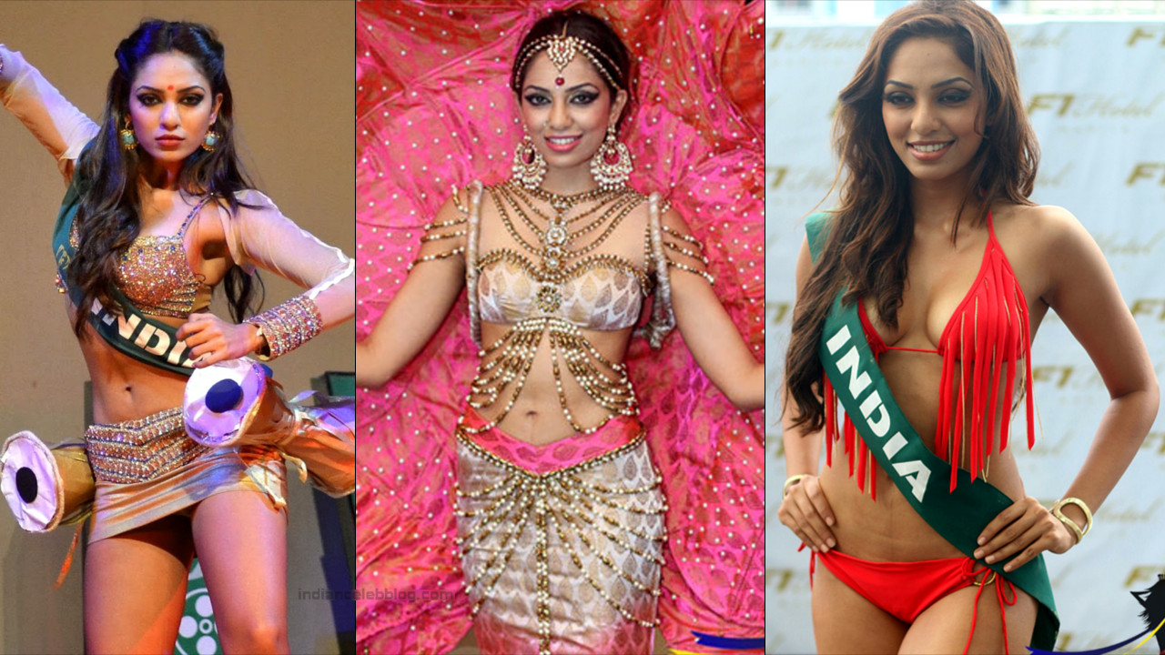 Sobhita Dhulipa of India at the Miss Earth 2013 Beauty Pageant