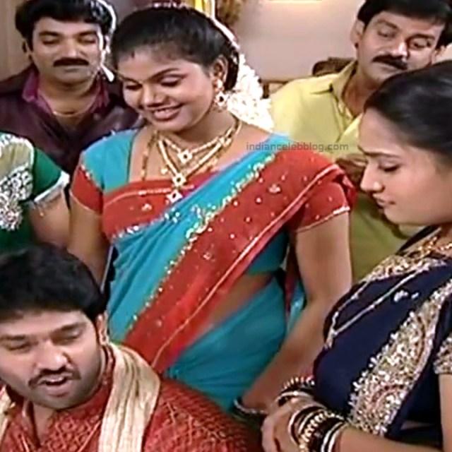 Telugu TV Actress Maa Nanna Art1-S1 18 Hot Saree Caps