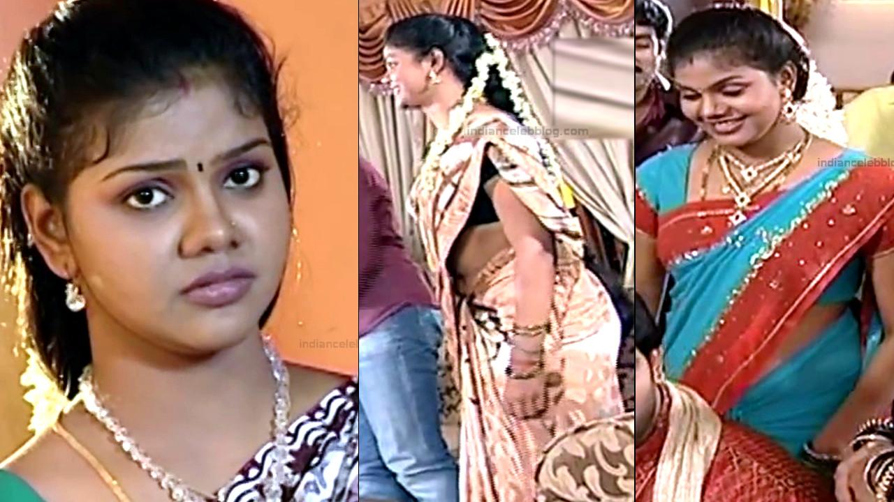Amrita gowri Telugu TV  Actress Hot sari navel show hd caps