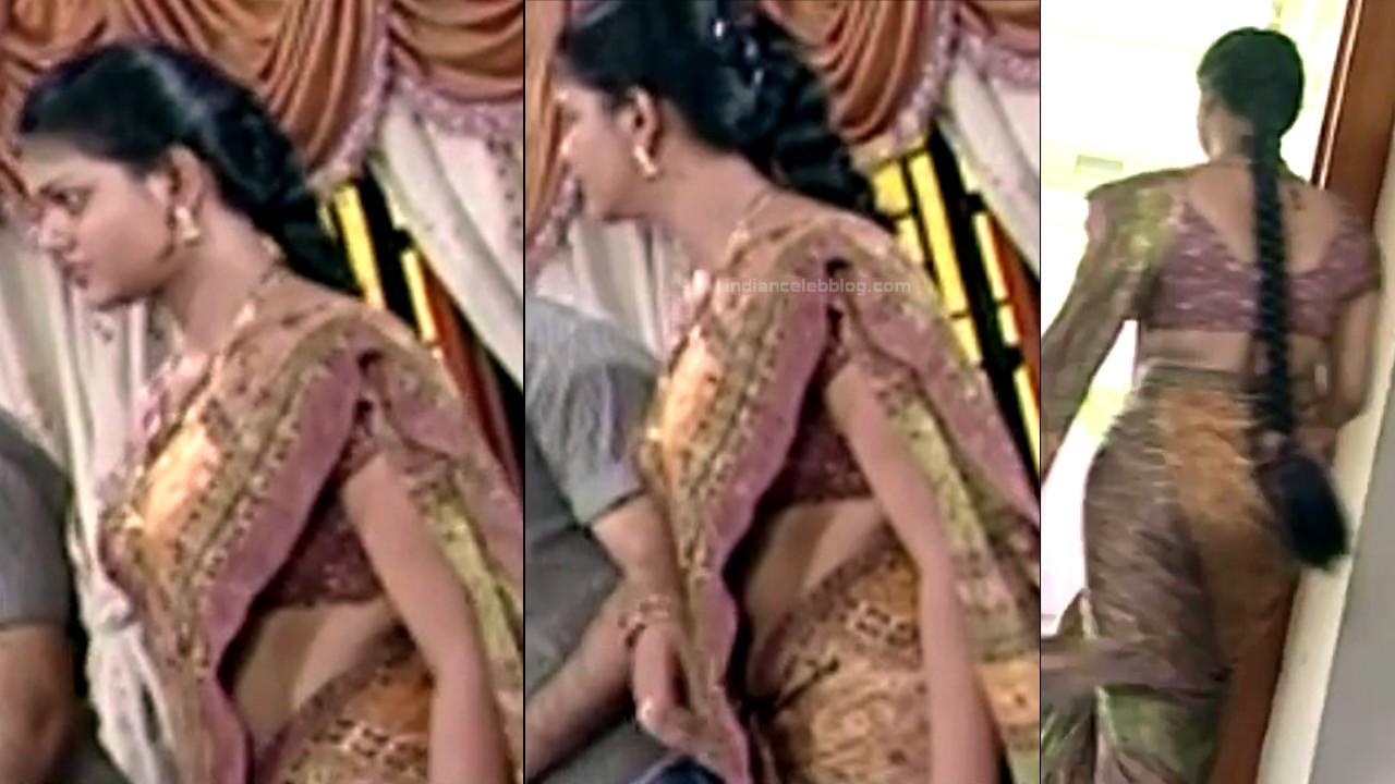 Telugu TV Actress Maa Nanna Art1-S1 3 Hot Saree Caps