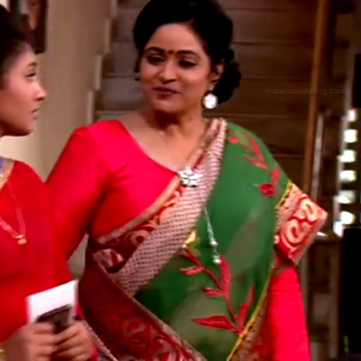 Telugu TV serial mature actress Comp2 4 hot saree photo