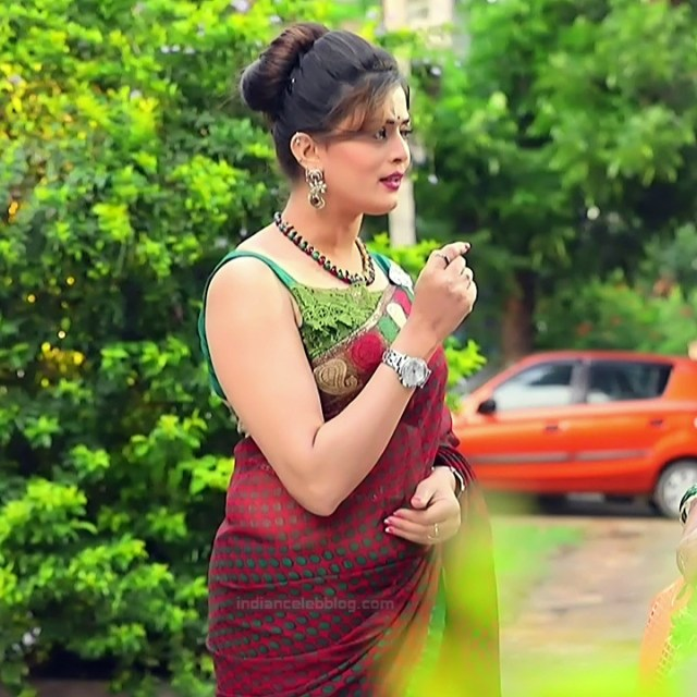 Veena Ponnappa Kannada TV Actress PutMS1 1 Hot saree pics