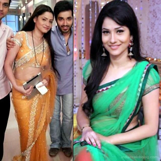 Ankita Lokhande Hindi TV actress CelebTS1 1 hot saree pics
