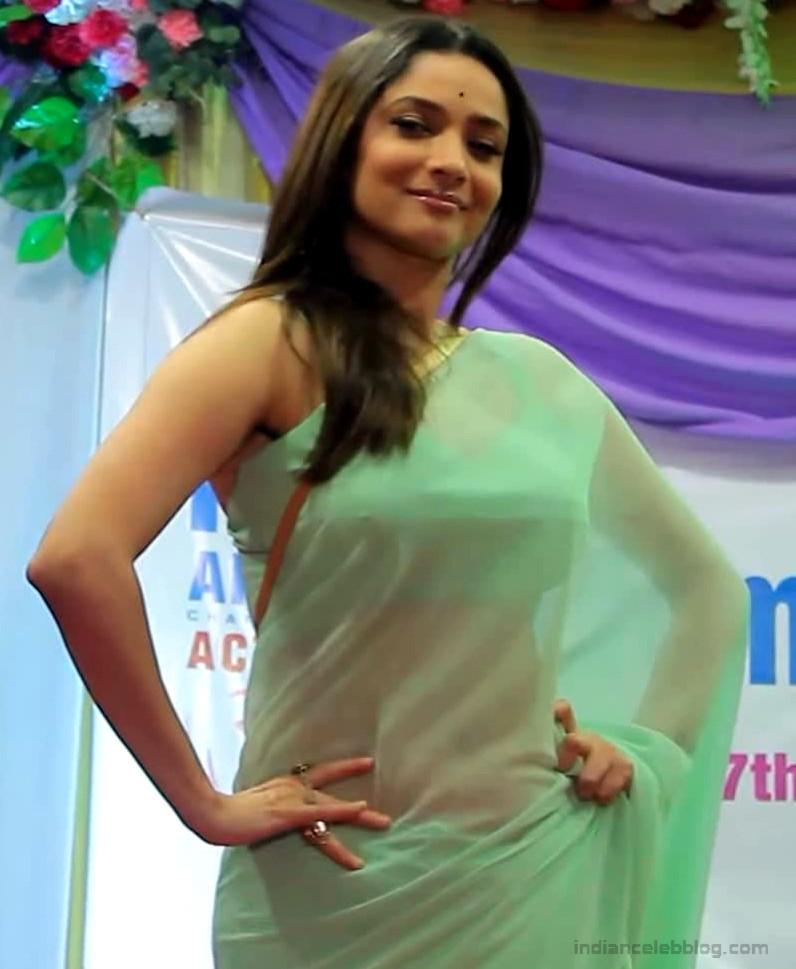 Ankita Lokhande Hindi TV actress CelebTS1 10 hot saree pics