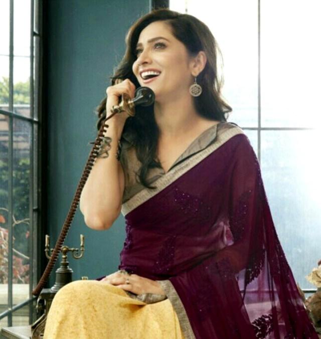 Ankita Lokhande Hindi TV actress CelebTS1 19 hot saree pics