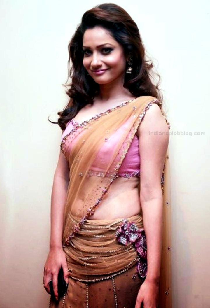 Ankita Lokhande Hindi TV actress CelebTS1 6 hot saree pics