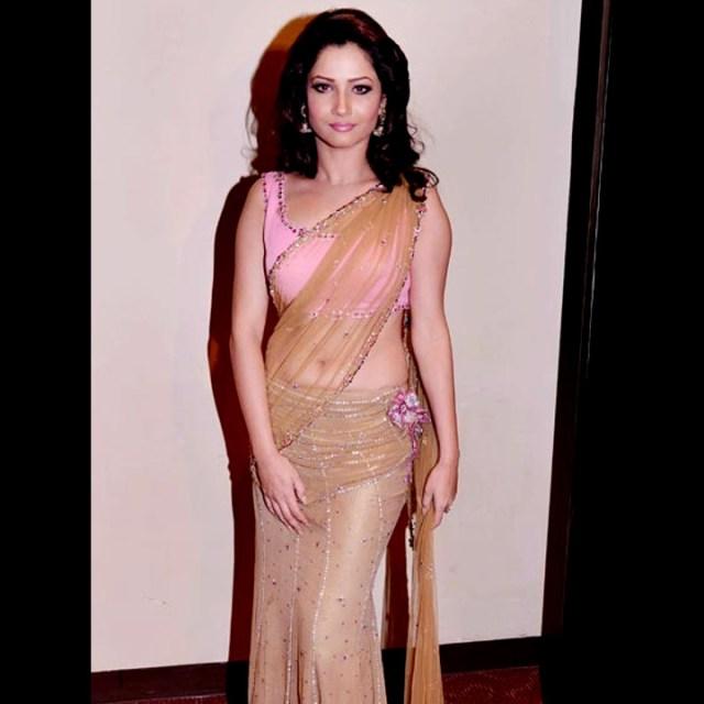 Ankita Lokhande Hindi TV actress CelebTS1 8 hot saree pics