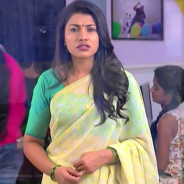 Chandana Raghavendra Kannada TV Actress Sindoora S2 1 hot saree pics