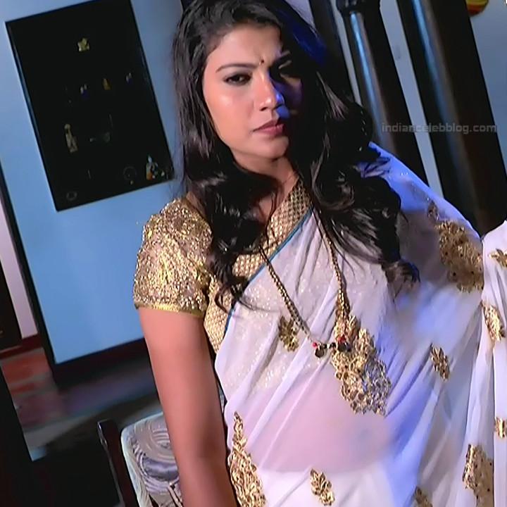 Chandana Raghavendra Kannada TV Actress Sindoora S2 11 hot saree pics