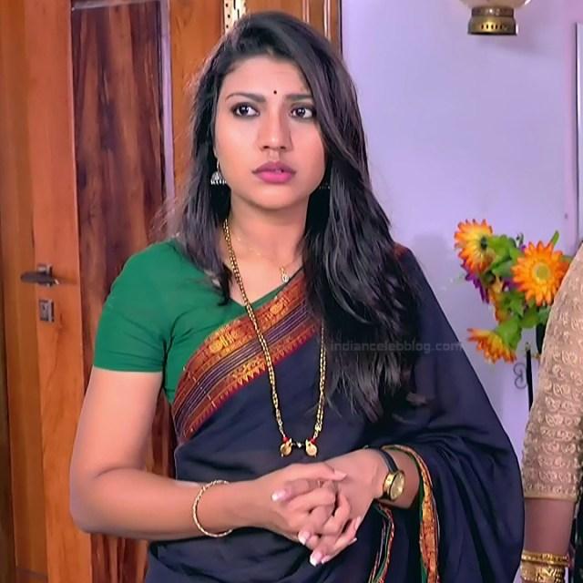 Chandana Raghavendra Kannada TV Actress Sindoora S2 23 hot saree pics