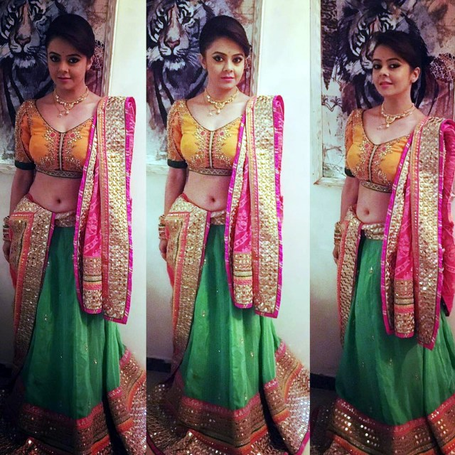 Devoleena Bhattacharjee Hindi TV actress CTS1 5 hot lehenga pics