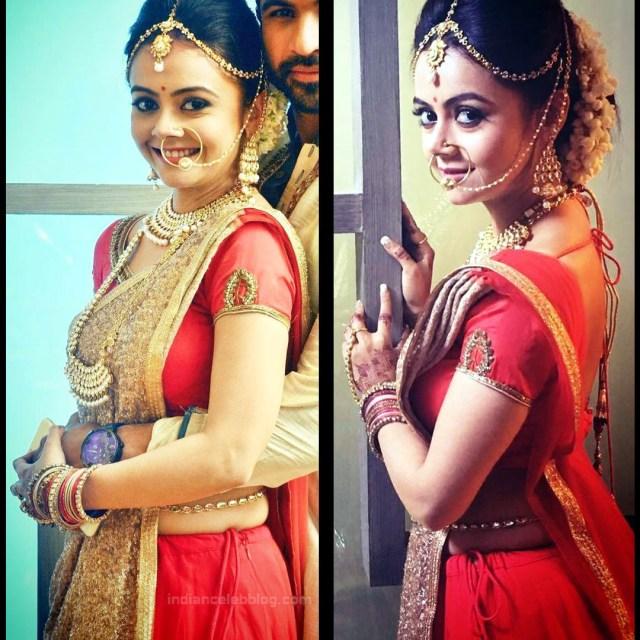 Devoleena Bhattacharjee Hindi TV actress CTS1 6 hot saree pics