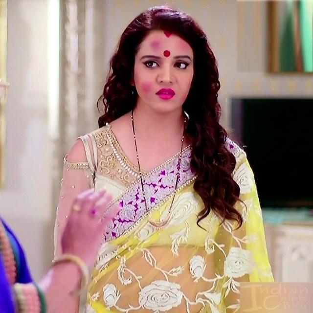 Hindi TV Actress Sasural simar ka 3 hot transparent sari caps