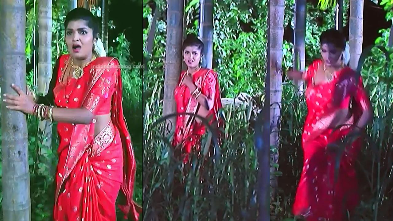 Kannada TV serial actress Bili HS1 11 hot sari caps