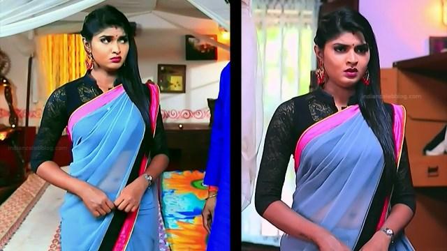 Kannada TV serial actress Bili HS1 9 hot sari caps