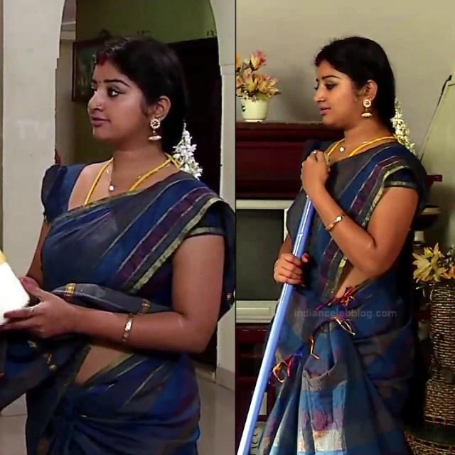 Mahalakshmi Tamil TV actress RVS1 4 hot saree pics