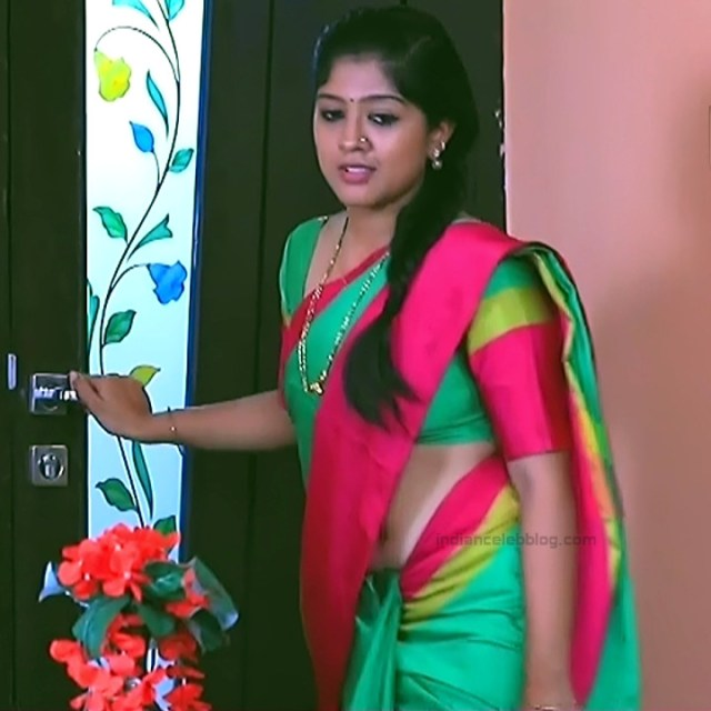 Meghana Shankarappa Kannada TV actress Kinnari S2 6 hot navel show