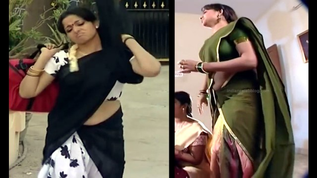 Minnal Deepa Tamil TV actress PonDTS1 8 hot sari navel caps