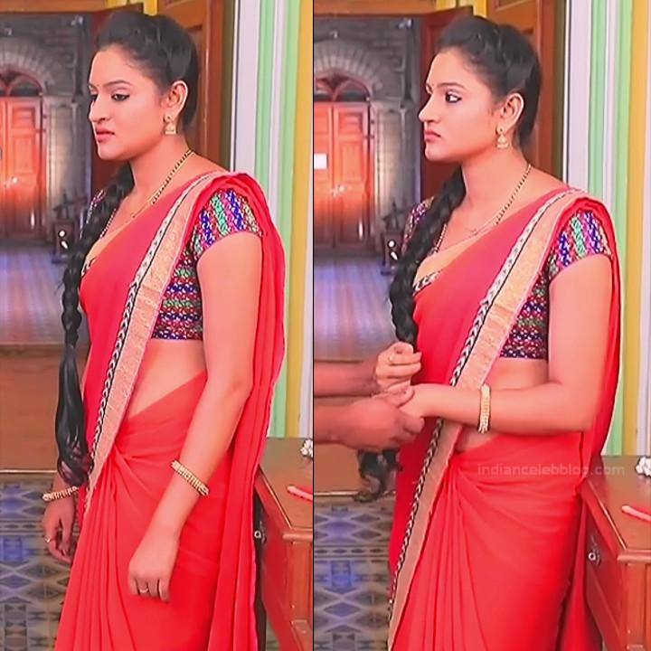 Ranjani Raghavan Kannada TV actress PuttGMS2 3 hot saree photos