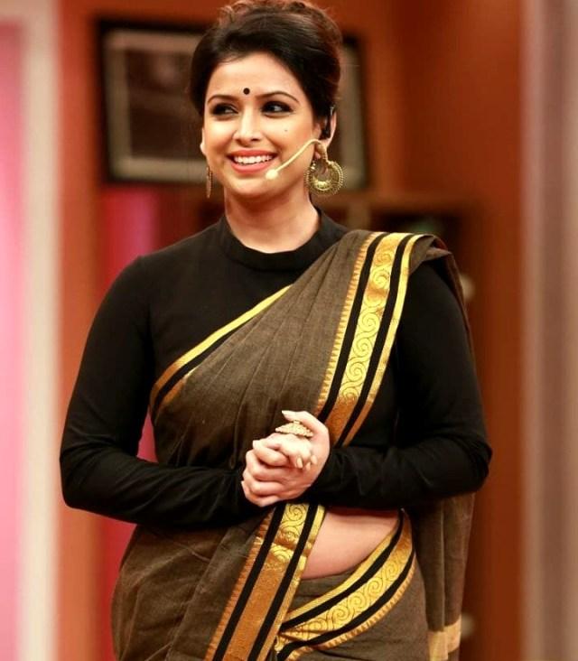 Shwetha Chengappa Kannada TV actress 11 hot saree photo