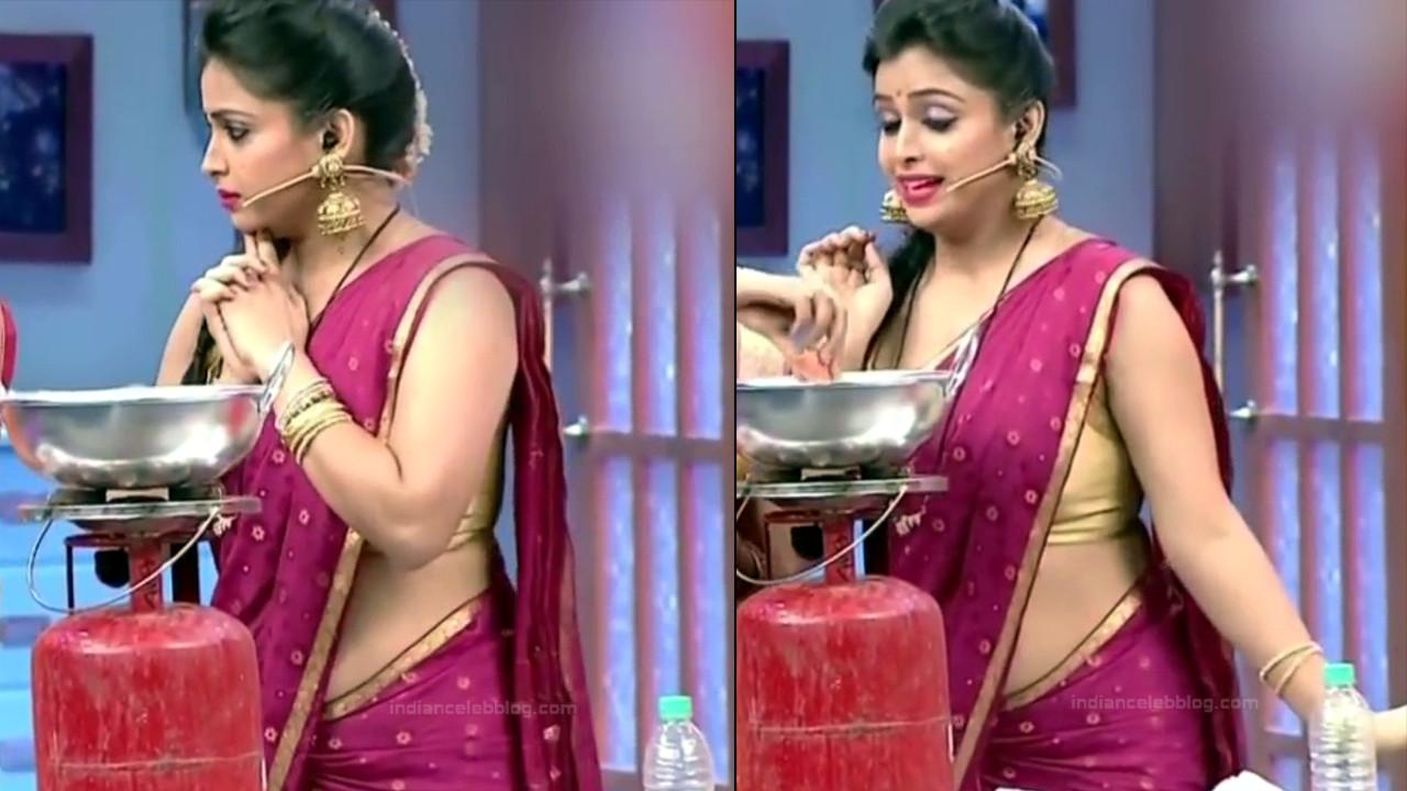 Shwetha Chengappa Kannada TV actress 13 hot saree pics