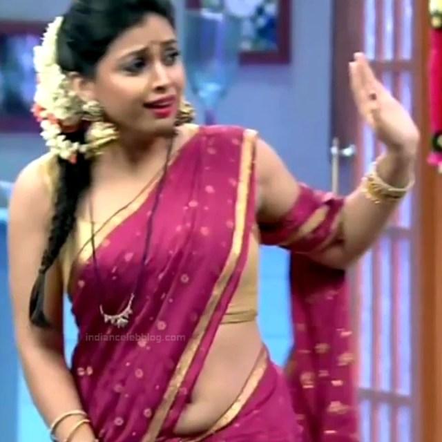 Shwetha Chengappa Kannada TV actress 17 hot saree photo