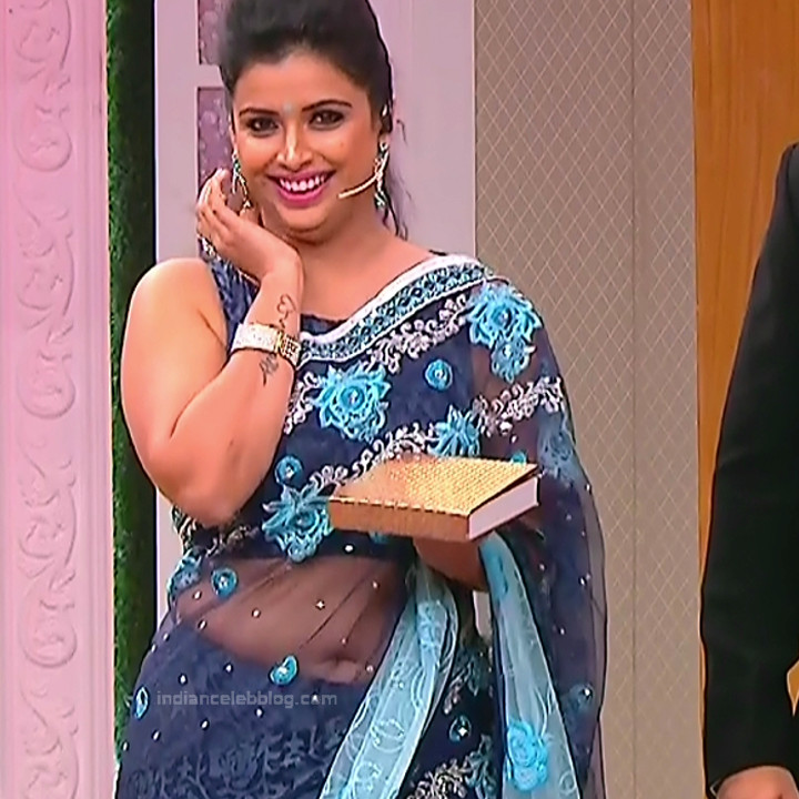 Shwetha Chengappa Kannada TV actress 7 hot saree photo