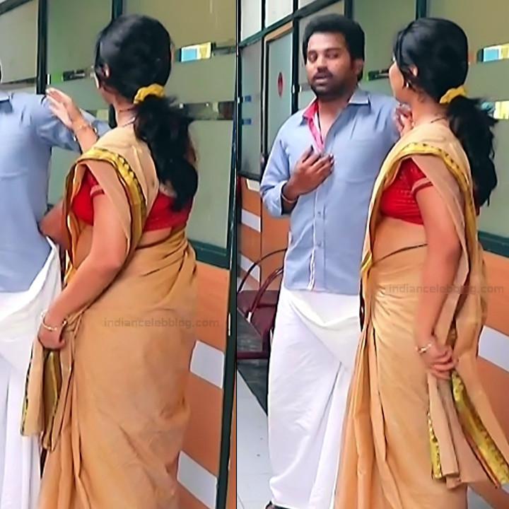 Syamantha Kiran Tamil tv actress Saravanan MS1 1 hot saree pics