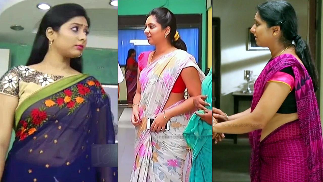 Syamantha Kiran tamil TV hot saree navel show hd caps