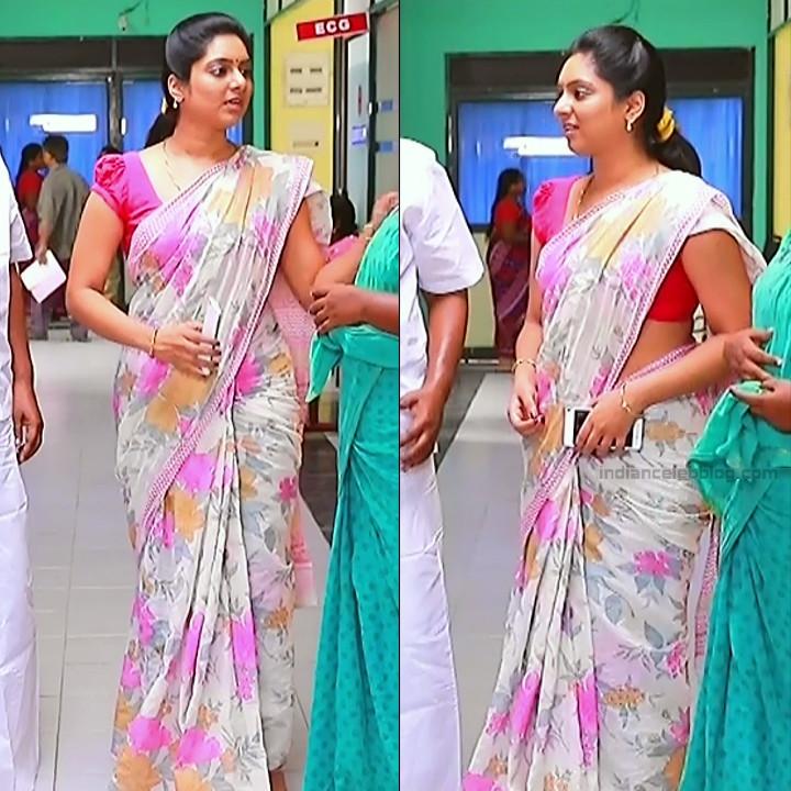Syamantha Kiran Tamil tv actress Saravanan MS1 6 hot saree pics