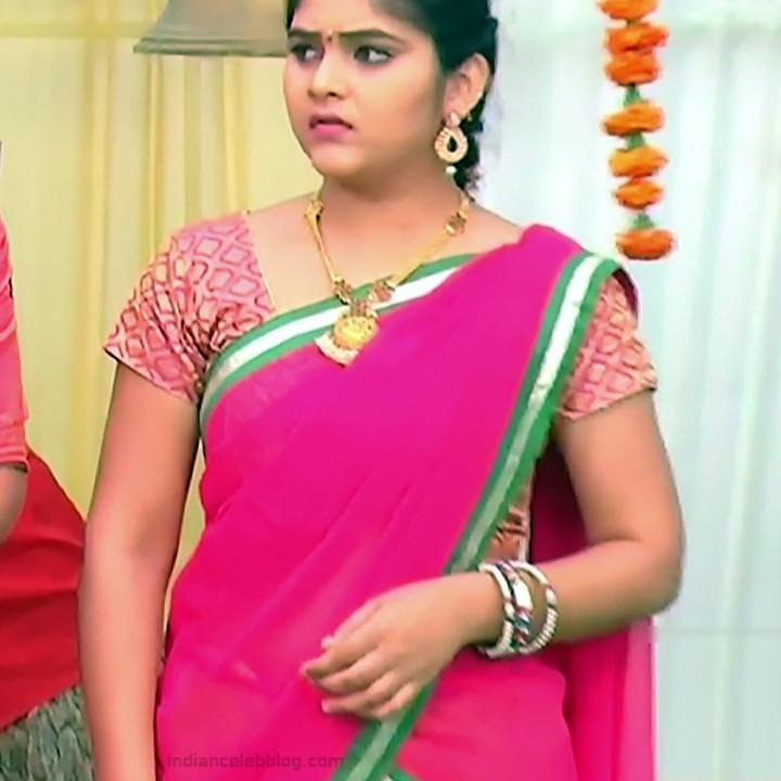 Telugu TV Actress Agnisakshi UnKS1 12 hot saree caps