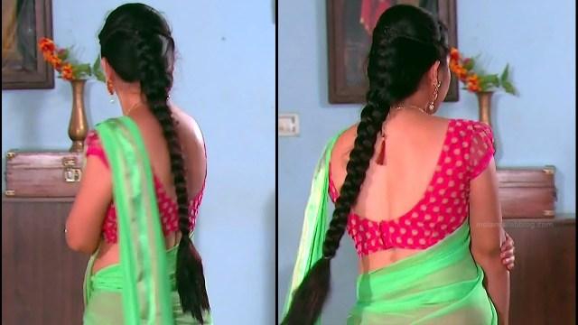 Telugu TV Actress Agnisakshi UnKS1 4 hot saree caps