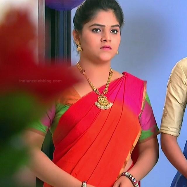 Telugu TV Actress Agnisakshi UnKS1 6 hot saree caps