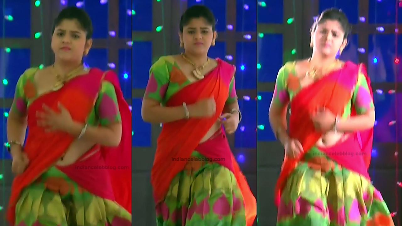 Telugu TV Actress Agnisakshi UnKS1 9 hot saree caps