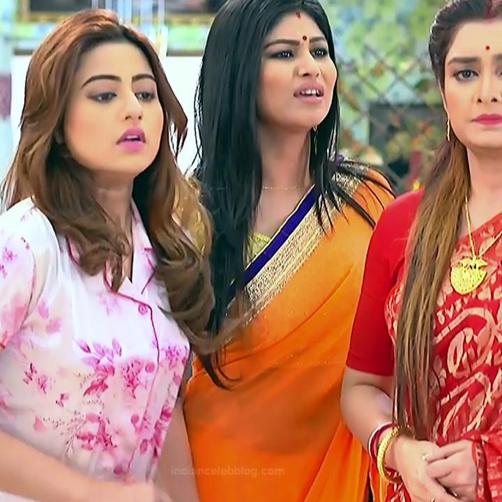 Bengali TV serial actress CompGS1 13 hot saree photo