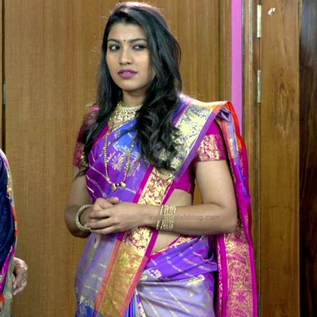 Chandana Raghavendra Kannada tv actress Sindoora S3 10 hot sari photo